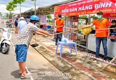 Mở chợ tạm phục vụ  khu vực phong tỏa Phường 9