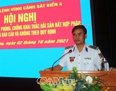 Bộ Tư lệnh Vùng Cảnh sát biển 4 tập huấn công tác phòng, chống khai thác IUU