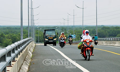 Đường Hồ Chí Minh đã được nối liền đến Mũi Cà Mau.